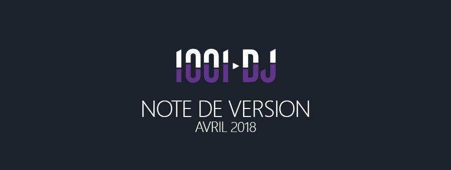 Avril 2018 - Nouvelles fonctionnalités