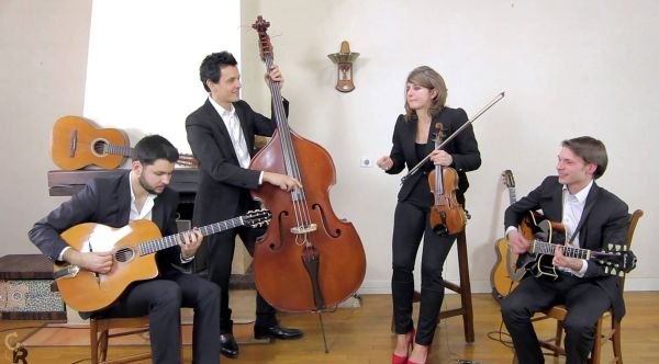 Rose Room - Quartet swing et jazz manouche avec violoniste