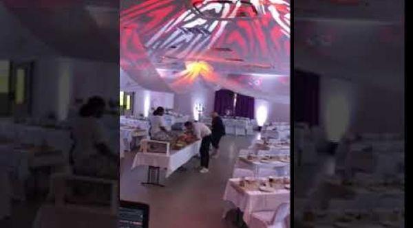 Vidéo déco de salle et écriture laser
