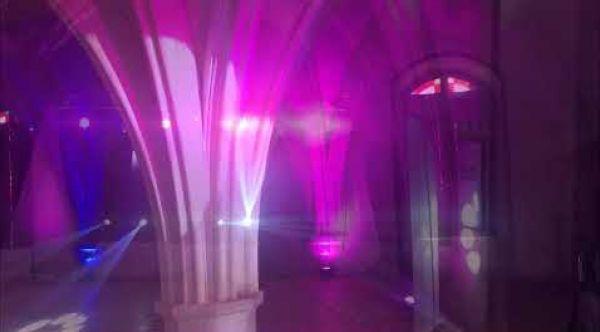 l'écho des nuits  éclairage Abbaye de Longpont