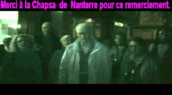 Remerciement de la CHAPSA à L'hôpital Max Fourestier   Nanterre