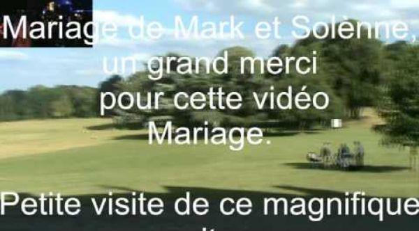Livre d'or mariage remerciement de Mark et Solènne (château de chambly)