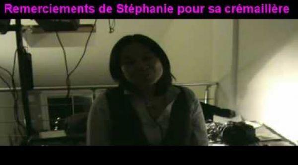 Remerciement de Stéphanie pour sa crémaillère (livre d'or)