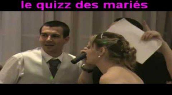 Animation mariage le quizz des mariés en vidéo