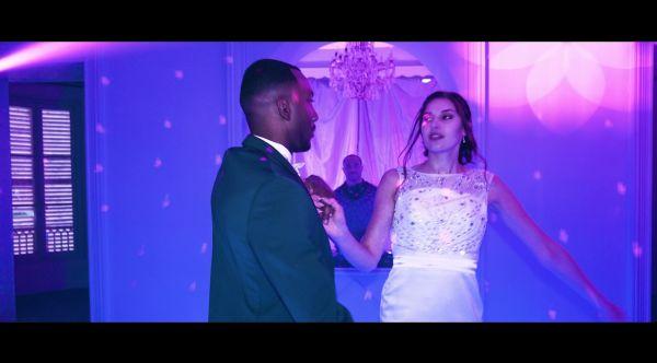 Entrée des mariés : piste de danse lumineuse 3D miroir